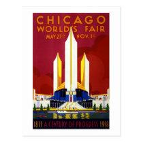 Vintage Chicago World's Fair A Century of Progress Postcard
