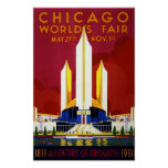 Vintage Chicago World's Fair A Century of Progress Poster