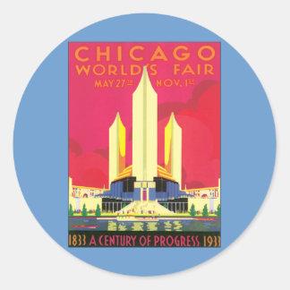 Vintage Chicago World's Fair Classic Round Sticker