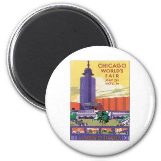 Vintage Chicago World's Fair 2 Inch Round Magnet