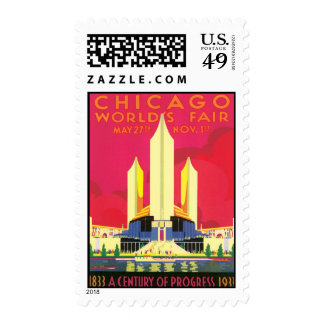 Vintage Chicago World's Fair Stamps