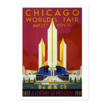 Vintage Chicago World's Fair Travel Postcard