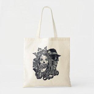 Tribal Dragon Tattoo Style Shopping Tote Bag