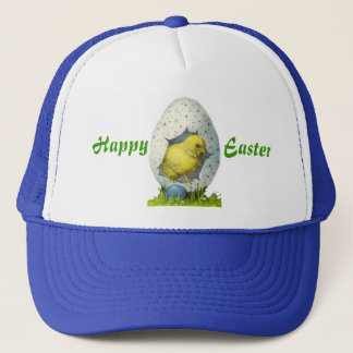 Vintage Chick And Easter Egg Trucker Hat