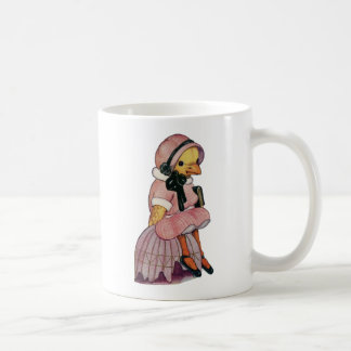 Vintage Chick in a pretty pink dress Coffee Mug