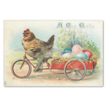 Vintage Chicken and Easter Eggs Decoupage Tissue Paper