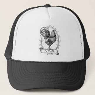 vintage chicken design typography trucker hat