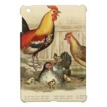 Vintage Chicken family illustration iPad Mini Cover