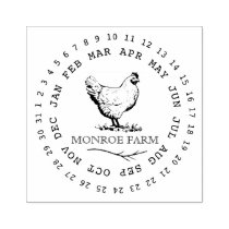 Vintage Chicken Farm ⎢Egg Carton Stamp