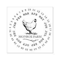 Vintage Chicken Farm ⎢Egg Carton Stamp