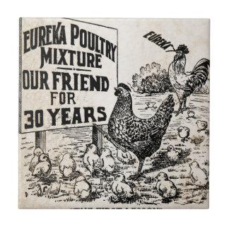 Vintage Chicken Feed Advertising Ceramic Tile