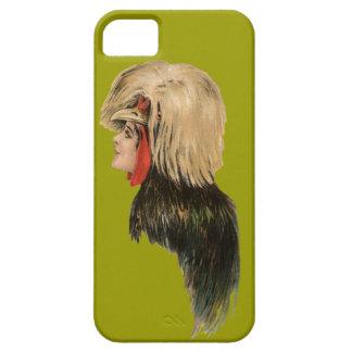 Vintage Chicken Headdress Bird Hat Woman Antique iPhone 5 Cases