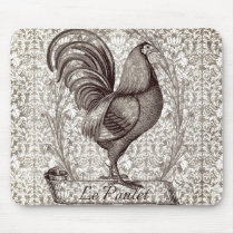 Vintage Chicken Illustration II Mouse Pad