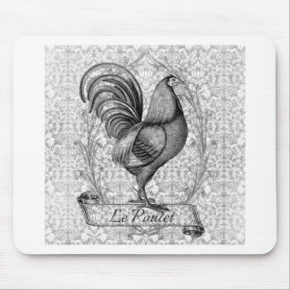 Vintage Chicken Illustration Mouse Pad