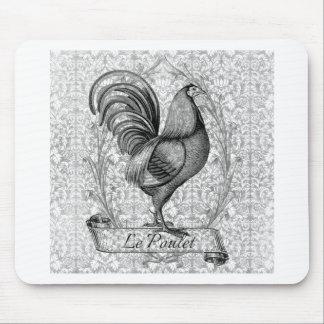 Vintage Chicken Illustration Mouse Pad