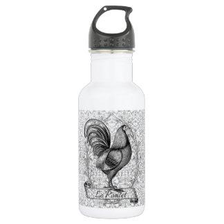 Vintage Chicken Illustration Stainless Steel Water Bottle