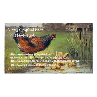 Vintage Chicken Items and Photography Double-Sided Standard Business Cards (Pack Of 100)