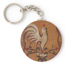 Vintage Chicken Keychain