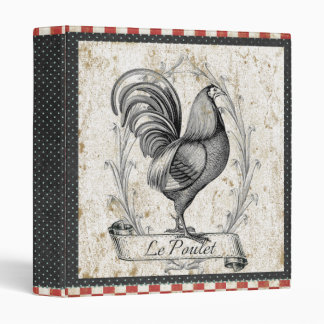 Vintage Chicken Le Poulet Binder