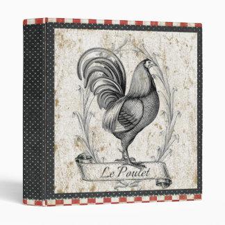 Vintage Chicken Le Poulet Binder