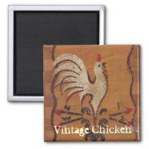 Vintage Chicken Magnet