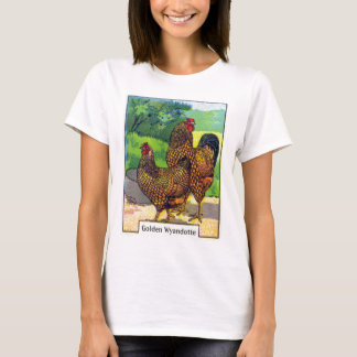 Vintage Chicken Print T-Shirt