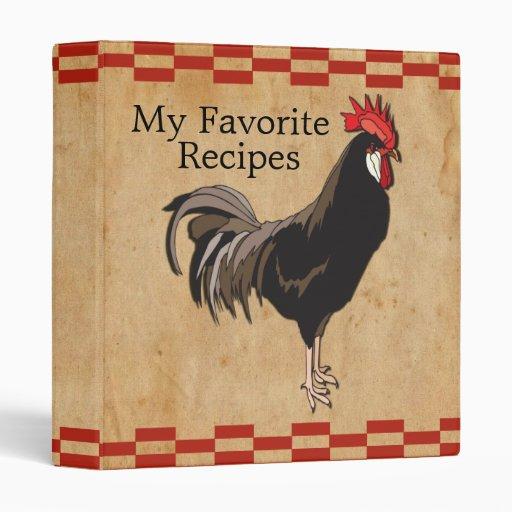 Vintage Chicken Recipe Binder