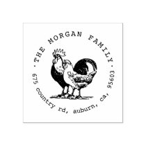 Vintage Chicken ⎥Return Address Stamp
