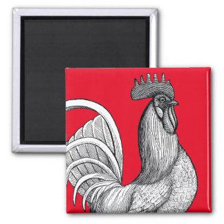 Vintage Chicken Rooster Magnet