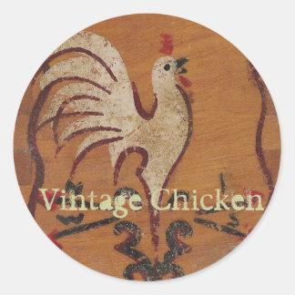 Vintage Chicken Stickers