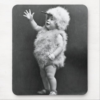 Vintage Chicken Suit Girl Easter Costume Mouse Pad