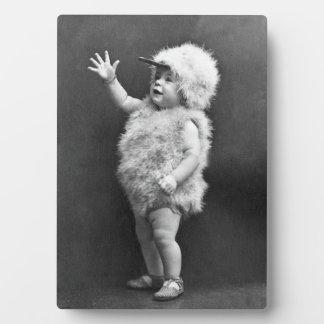 Vintage Chicken Suit Girl Easter Costume Plaque