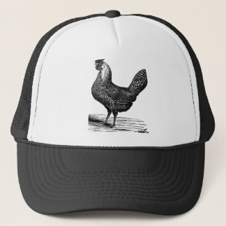 Vintage chicken vector vintage 1900 trucker hat
