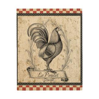 Vintage Chicken Wood Print