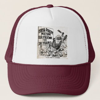 Vintage Chickens Advertisement Trucker Hat