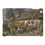 Vintage Chickens and Hollyhocks Case For The iPad Mini