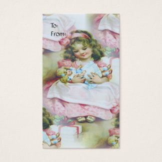Vintage Child And Doll - Gift Tag