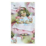 Vintage Child And Doll - Gift Tag Business Card