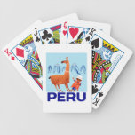 Vintage Child and Llama Peru Travel Poster Bicycle Playing Cards