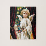 Vintage Child Angel Toys and Christmas Tree Puzzle