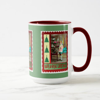Vintage child at Christmas Mug