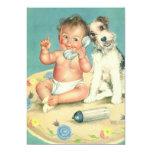 Vintage Child Birthday Party, Puppy Dog Telephone Cards