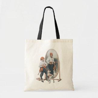 Vintage Child, Boy Pirate, Dog, Mirror, Buccaneer Tote Bag