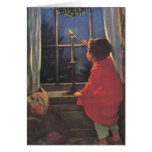 Vintage Child, Christmas Eve, Jessie Willcox Smith Greeting Cards