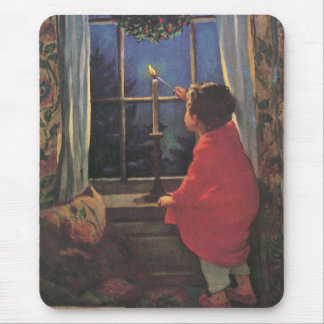 Vintage Child, Christmas Eve, Jessie Willcox Smith Mouse Pad