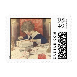Vintage Child, Christmas Eve, Jessie Willcox Smith Postage Stamp