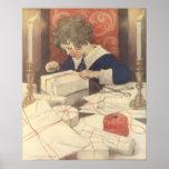Vintage Child, Christmas Eve, Jessie Willcox Smith Posters