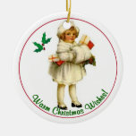 Vintage Child Christmas Ornament #3
