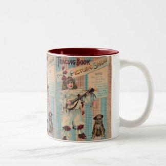Vintage Child Clown Two-Tone Coffee Mug