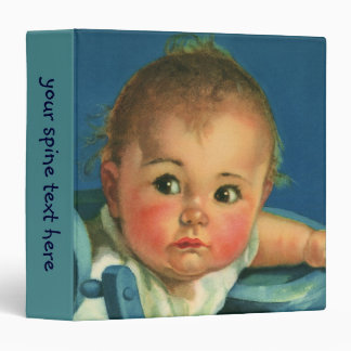 Vintage Child, Cute Baby Boy or Girl in Highchair Binder